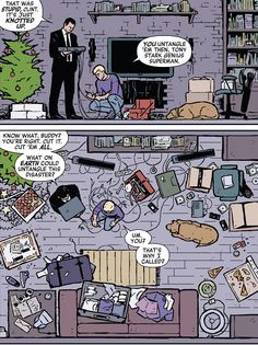 """Cutting the Wire,"" Part 2 - Tony Stark and Clint Barton, ""Hawkeye"""