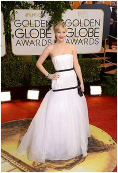 Jennifer Lawrence in Dior at the 2014 Golden Globes