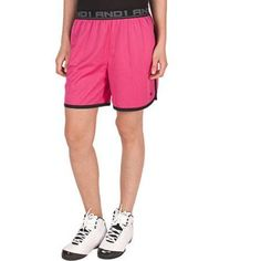 AND1 Women's Court Mesh Game Short - 7 inch Inseam, Size: Large, Pink