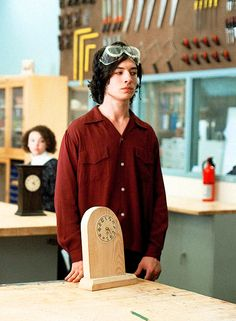 """Ezra Miller as Patrick, his clock is jokes >< The perks of being a wallflower """"if you fail me, you get me next semester"""""""