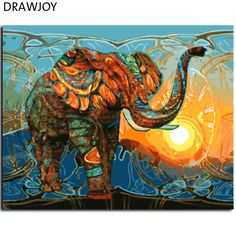 New Frameless Pictures Painting By Numbers DIY Digital Oil Painting On Canvas Home Decor Wall Art Abstract Elephant GX7997 - ICON2 Luxury Designer Fixures  New #Frameless #Pictures #Painting #By #Numbers #DIY #Digital #Oil #Painting #On #Canvas #Home #Decor #Wall #Art #Abstract #Elephant #GX7997