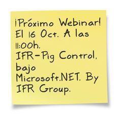 ¿Tienes una cita? ;) ¡¡Sí!! Con los Webinars de IFR Group... ¡IFR-Pig Control en ERP-Spain! Sigue el enlace: http://www.tecnowebinars.com/webinar/357/ifr-pig-control-la-solucion-vertical-microsoft-dynamics-ax-2012-para-la-gestion-de-granjas-madres-/ifr-group