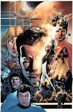 Star Trek and Legion of Superheroes by Phil Jimenez, colours by Rom Fajardo Jr. *