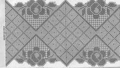 Hobby lavori femminili - ricamo - uncinetto - maglia: schema uncinetto centro ovale