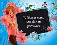 Regalo tu blog es una flor