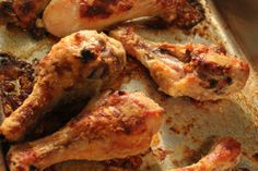 Oven Fried Chicken Legs--yummy. Easier than stove top but no gravy! @ lol