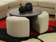 Modern Designs Of The Coffee Table With Stool