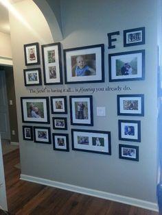 Pretty photo wall...