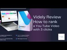Videly Minireview - How to rank a You Tube Video with 3 Clicks Tube Video, Marketing Tools, Affiliate Marketing, Helpful Hints, Reading, Mini, Youtube, Useful Tips, Reading Books