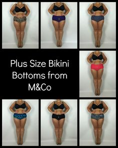 Plus size bikini bottoms from M&Co reviewed http://www.curvywordy.com/2015/11/plus-size-bikini-bottoms-from-m.html