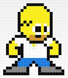 Homer Simpson-Pixel art