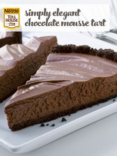 Simply Elegant Chocolate Mousse Tart