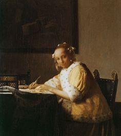 Jan Vermeer van Delft - Eine Dame schreibt einen Brief