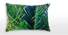 jungle coussins | Coussin en velours Jangala 40 x 60 cm, bleu canard | made.com