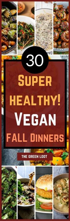 Healthy Easy Vegan Fall Recipes for Dinner http://healthyquickly.com http://healthyquickly.com