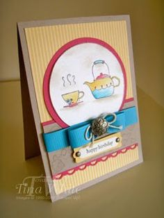 """Stampin' Up! Australia - Tina White - Time to Ink Up - Independent Stampin' Up! Demonstrator: """"Morning Cup"""""""