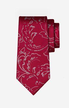 SSu Czerwony krawat WÓLCZANKA - PWB8XJ9721