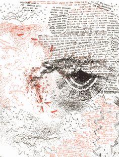 From the Artaud Codex Series by Nancy Spero, 1972 - Typewriter As Art Practice  http://on.natgeo.com/1jBNuoT