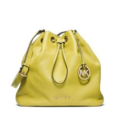 MICHAEL Michael Kors Jules Large Drawstring Shoulder Bag Yellow Michael  Kors Designer 78194cdbed6f4