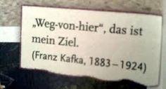 Weg von hier. Franz Kafka