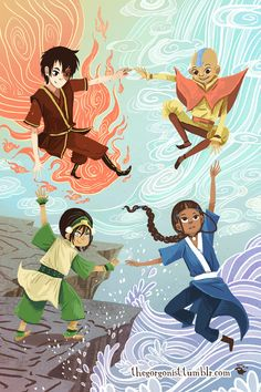 Avatar The Last Airbender Discover Bender art poster Art Prints, Cartoon Shows, Mini Art, Poster Art, Art, Anime, Avatar Airbender, Cartoon, Fan Art