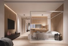 Fabulous 4 Poster Beds That Make An Awesome Bedroom ~ Elegant Home Design Inspiration Luxury Bedroom Furniture, Luxury Bedroom Design, Interior Design, Minimalist Bedroom, Modern Bedroom, Bedroom Wall, Bedroom Decor, Bedroom Ideas, Light Bedroom