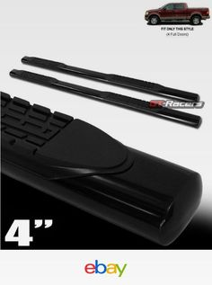 For   Ford F Crew Cab  Oval Black Side Step Nerf Bars