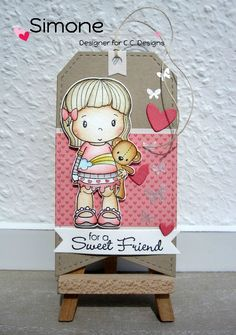 """**StempelQueen**: **...July-Release at CC Designs: """"Swiss Pixie Lucy with Teddy""""...**"""