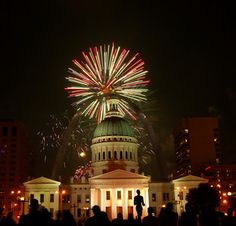 Fourth Of July Over St Louis Arch. This is where we willbe July 4th, 2013!