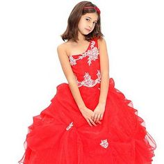 Girls' pageant dresses are the dresses designed for beauty and talent pageants.