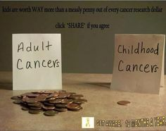 September is childhood cancer awareness month. Let's be aware and demand a change!
