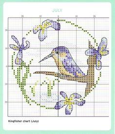 July Cross Stitch Chart