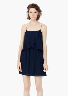Teksturowana sukienka z falbaną