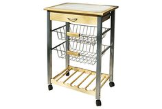 Rolling Kitchen Cart on OneKingsLane.com - Im thinking just how handy this could be in the kitchen!