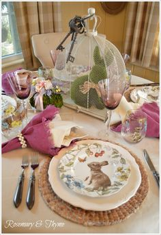 Rosemary and Thyme: Easter Table Setting Inspiration