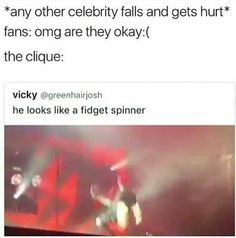 thE WHOLE CLIQUE IS MAKING JOKES ABOUT IT AND I'M LIKE POOR FUCKIN BABY I WOULD BE SCARRED FOR LIFE THAT SHIT IS EMBARRASSING