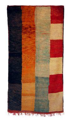 Alberto Levi Gallery: Double face Berber carpet Middle Atlas - Morocco circa 1940