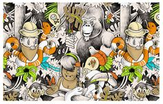 THRLD Artist Of The Week: LJ de Ronde - THRLD • Online magazine voor fashion, art & music #design #art #graphic #comics #wood