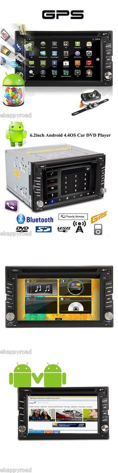 Video In-Dash Units w GPS: Android4.4 6.2 Car Stereo Radio Double 2 Din 3G Wifi Gps Navi Dvd Player+Camera BUY IT NOW ONLY: $158.99