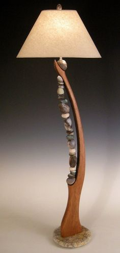 Stone Harp by Jan Jacque. Jacque continues her ins. - Stone Harp by Jan Jacque. Jacque continues her ins… – Stone Harp by Jan Jacque. Jacque continues her ins… – - Ceramic Wood Floors, Wood Flooring, Luminaire Original, Diy Luminaire, Driftwood Lamp, Wood Floor Lamp, Creation Deco, Room Lamp, Bed Room