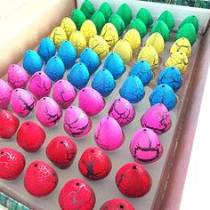 60pcs/lot Magic Dinosaur Eggs Toy For Kids Gifts Children Water Hatching Inflation Growing Dino Egg Novelty Gag Toys