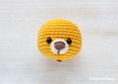 Cuddle Me Lion amigurumi pattern - muzzle