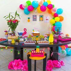 Party Summer Ideas Fun 34 Ideas For 2019 Flamingo Party, Flamingo Birthday, Luau Birthday, Cool Birthday Cakes, Birthday Parties, Birthday Ideas, Girl Birthday, Aloha Party, Luau Party