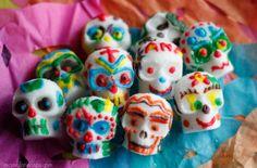 Colorful Día de los Muertos sugar skulls
