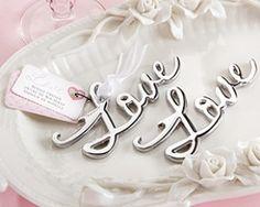 """Love"" Bottle Opener http://www.1weddingsource.com/store/index.php/love-bottle-opener"