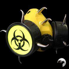 Cyber Respirator Biohazard Jaune Fluo
