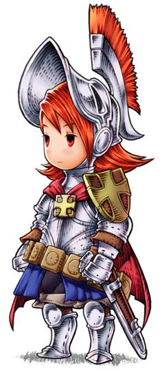 View an image titled 'Refia - Knight Art' in our Final Fantasy III art gallery featuring official character designs, concept art, and promo pictures. Final Fantasy Ds, Final Fantasy Artwork, Final Fantasy Characters, Fantasy Armor, Fantasy Series, Game Character Design, Character Design Animation, Character Art, Knight Art