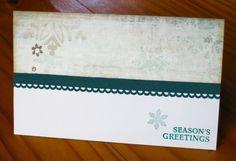 Simple vintage and teal Christmas card by Elmi Raubenheimer