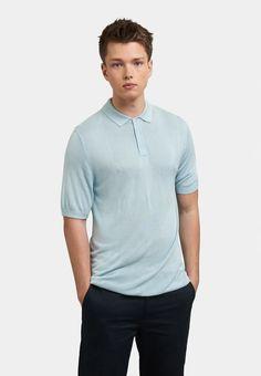 Merc Men's Stokes Argyle Pattern Knit Polo Boy Blue - XLarge