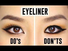 How to Apply Eyeliner Perfectly Based On Your Eye Shape. How to Apply Eyeliner Perfectly Based On Your Eye Shape list here: Almond-shaped eyes Hooded e. Perfect Winged Eyeliner, How To Apply Eyeliner, How To Apply Makeup, Applying Eyeliner, Applying Makeup, Loreal Eyeliner, Black Eyeliner, Eyeliner Waterline, Natural Eyeliner